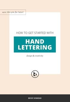Do you want to get started with hand lettering? Click to watch the video or pin & save for later!