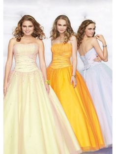 Cost-efficient Strapless Organza Best Sell Floor Length Prom Gown