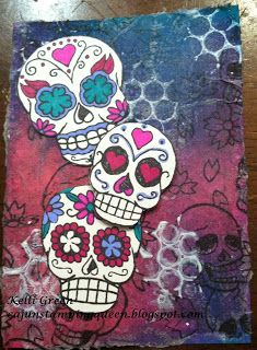 CAJUNSTAMPINGQUEEN: Bombshell celebrates Day of the Dead and a New monthly Challenge for JSL!!!