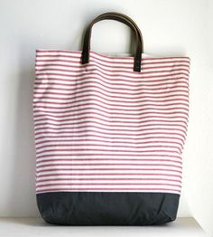 Cotton & Canvas Striped Tote | Women's Bags & Accessories | jenneng | Scoutmob Shoppe | Product Detail