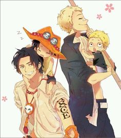 Ace and Sabo with younger versions
