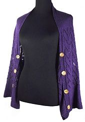 This easy to make shrug is worked in one piece from sleeve to sleeve, with…