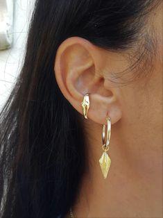 Cuff Earring, No Piercing Gold Cartilage Hoop Ear Cuff Earring, Contemporary Girlfriend Earrings Cartilage Hoop, Cartilage Earrings, Ear Piercings, Unique Necklaces, Unique Earrings, Ear Parts, Arm Bracelets, Cuff Earrings, Handmade Jewelry