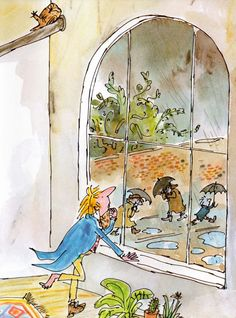 Vintage Kids' Books My Kid Loves: Mister Magnolia. Vintage children's illustration Vintage Children's Books, Vintage Kids, Chris Riddell, Quentin Blake Illustrations, Children's Book Characters, Children's Book Illustration, Book Illustrations, Pen And Watercolor, Humor Grafico