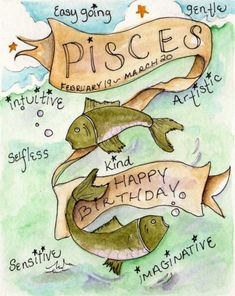 Rose Hill Designs: Happy Birthday Pisces