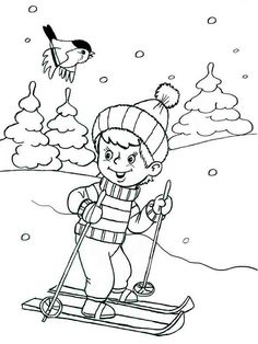 - Best Picture For Winter Sports Preschool art For Your Taste You are looking for something, and Sports Coloring Pages, Animal Coloring Pages, Colouring Pages, Coloring Rocks, Coloring Pages For Kids, Winter Kids, Winter Sports, Hedgehog Craft, Winter Magic