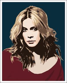 "Graphic Art by Jarod ""Portrait of Dutch singer Anouk"" http://www.facebook/jarodsof"