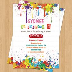 Arts and Crafts Birthday Party Invitation by JanetteChiuDesign, $12.00