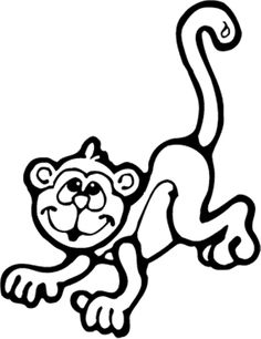 Dozens of free monkey coloring pages from around the internet ...
