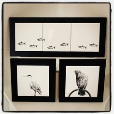 Mounted wild life tile by Mary Conroy Craft Sale, Wild Life, Tile, Workshop, Gallery Wall, Mary, Frame, Crafts, Home Decor