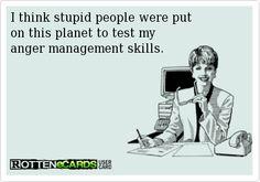 Custom Made T Shirt Stupid People Were Put On Earth Test Anger Management Skills
