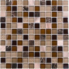 Glass Mosaic Tile Copper Blend for kitchen backsplash, bathroom and feature wall.