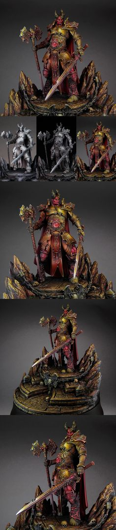 The Internet's largest gallery of painted miniatures, with a large repository of how-to articles on miniature painting Chaos Lord, Fantasy Model, Darkness Falls, Fantasy Miniatures, Warhammer Fantasy, Mini Paintings, Warhammer 40000, Figs, Scale Model