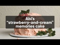 "Abi's ""strawberry-and-cream"" memory cake Pudding Pies, Pudding Cake, Pudding Recipes, Dessert Recipes, Cake Recipes, Desserts, Yummy Treats, Sweet Treats, Baby First Foods"