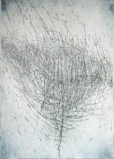 "Saatchi Art Artist FRANCOIS RÉAU; Printmaking, ""Study for Laurus Nobilis"" #art"
