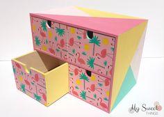 DIY | Caja alterada con decoupage y flamencos