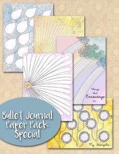 Bujo printable, bullet journal printable, Set of Five, gratitude list, gratitude journal, journal insert, journaling insert, Bujo Insert by JournalPlannerDiva on Etsy