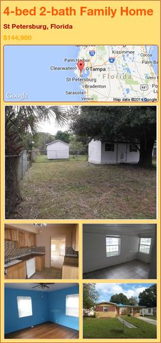 4-bed 2-bath Family Home in St Petersburg, Florida ►$144,900 #PropertyForSale #RealEstate #Florida http://florida-magic.com/properties/85621-family-home-for-sale-in-st-petersburg-florida-with-4-bedroom-2-bathroom