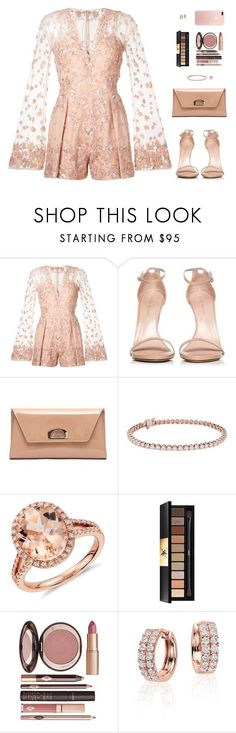 """Sin título #4797"" by mdmsb on Polyvore featuring moda, Zuhair Murad, Stuart Weitzman, Christian Louboutin, Blue Nile, Yves Saint Laurent y Charlotte Tilbury"