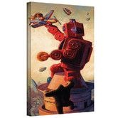 Found it at Wayfair - Art Wall 'Robokong' by Eric Joyner Gallery-Wrapped on Canvas