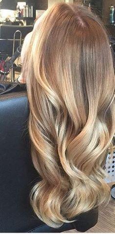 honey gold blonde highlights