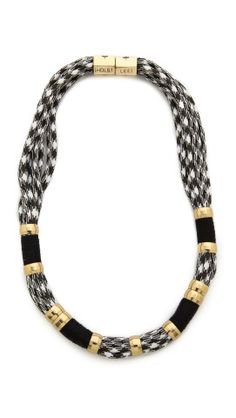 I'm a little obsessed with this-Holst + Lee Houndstooth Colorblock Necklace