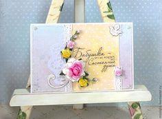 Открытка Нежная - стиль шебби шик - Открытка ручной работы,открытка на день рождения