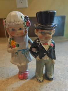 ANTIQUE 1920 cake wedding cake toppers by KANDYLEES on Etsy