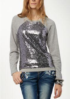 Sequined Sweatshirt | Rue21