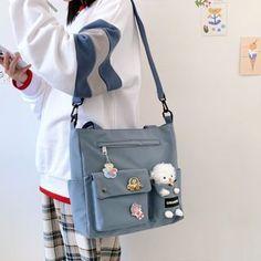 Stylish School Bags, Cute School Bags, Kawaii Bags, Kawaii Clothes, Accesorios Casual, Cute Bags, Plush Animals, Kawaii Fashion, Aesthetic Clothes