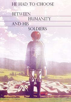 """People, who can't throw something important away, can never hope to change anything."" Armin Arelet (Shingeki no Kyojin)"