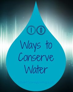 10 ways to conserve water in honor of www. via Flynn Pegram Water Sustainability, Sustainability Education, Earth Science, Science And Nature, Water Saving Tips, Recycling Facts, Water Cycle, Water Resources, Water Wise
