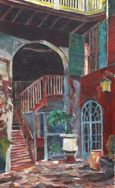 Rampart Street Courtyard, Bob Dylan, The New Orleans Series