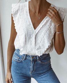 Blusas blanc a