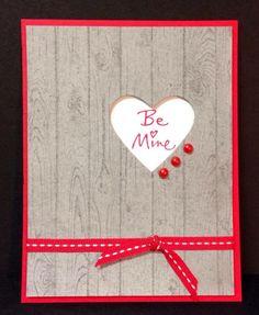 Stampn Up Manly valentine card