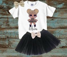 LoL surprise birthDay outfit! This outfit is perfect for any little girls birthday!!!! This cute tutu set is super girly and trendy and she will spread sparkle everywhere she goes in this cute set. (OUTFIT CHOICES) 1. whole outfit w/tutu : includes everything pictured with the tutu set.