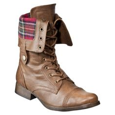 Just bought boots like this - grey with blue plaid. Love them to death. Kind of want brown with red plaid too.