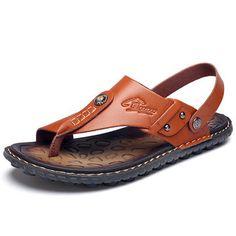 2019 New Men Shoes Large Sizes Summer Shoes Fashion Men's Slippers Male Sandals Hiking Sandals, Beach Sandals, Men's Sandals, Male Sandals, Sandals Sale, Sport Sandals, Mens Flip Flops, Leather Flip Flops, Casual Leather Shoes