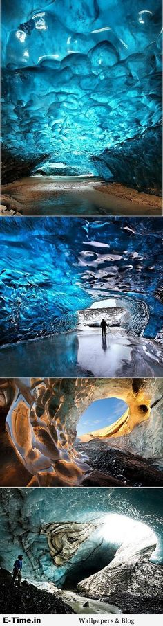 Crystal Ice Cave Skaftafell National Park Iceland