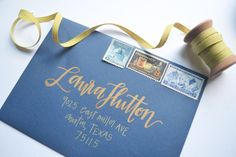 Calligraphy and Wedding Invitations from Prairie Letter Shop #bridesofok #calligraphy #weddinginvitations #wedding #oklahoma