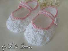 Looking for your next project? You're going to love Lacy baby shoes by designer Luba Davies. - via @Craftsy - Free pattern