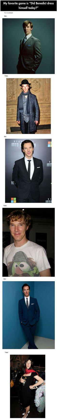 Did Benedict dress himself today?