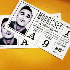 Concert Tickets designed by Stephanie Schmaltz