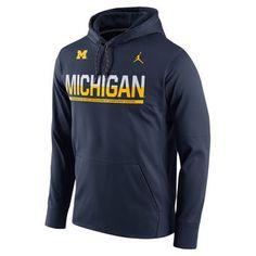 Brand Jordan Michigan Wolverines Nike Jumpman Pullover Performance Hoodie
