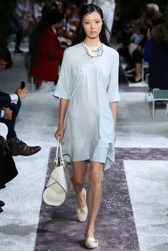 Pantone Colour Report Spring 2015 trends / aquamarine / how to wear aquamarine / outfit ideas / fashion collections S/S 2015 / Tod's Spring 2015 / via fashioned by love british fashion blog