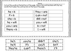 Worksheet Contraction Worksheets For First Grade grammar second grade and articles on pinterest first funtastic st patricks day pack