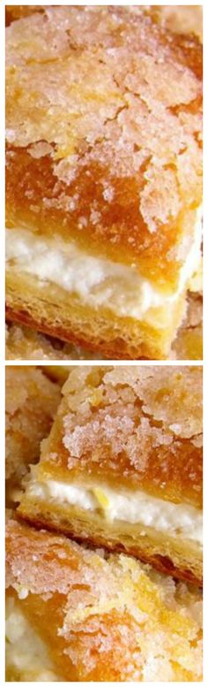 Lemon Cream Cheese Bars ~ These bars are fresh, buttery and exploding with lemon flavor!