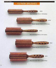 "YS Park ""G"" Series Mixed-Bristle Round Brushes - 7 Sizes - Shear World"