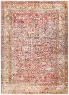 Antique Shabby Chic Persian Khorassan Carpet 48297