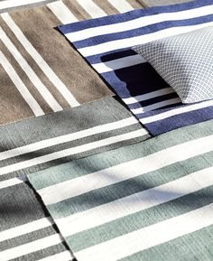 Like the French mariniere shirt, the striped rug is an outdoor living essential. Here are 10 of our favorites, to add a graphic note, in weather-resistant fabrics.
